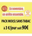 Pack Moi(s) Sans Tabac - 3€/jour